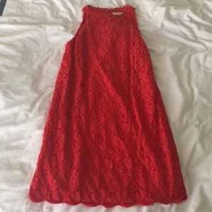 Red lacy dress